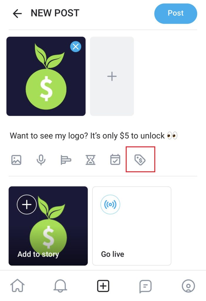 how to lock a post on onlyfans
